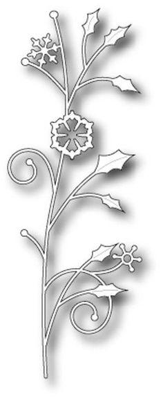 Memory Box Steel Craft  Die Snowflake Sprig Made in USA  #morningsunstudio