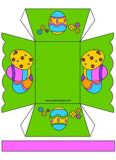 Lavoretti Pasqua - Porta ovetti di carta Bunny Crafts, Easter Crafts, Diy Gift Box Template, Kids Workshop, Girl Scout Badges, Easter Baskets, Projects For Kids, Easter Bunny, Creations