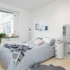Skandinavisches Design für schönes und modernes Schlafzimmer