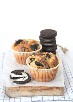 Oreo-Nutella muffins - Laura's Bakery