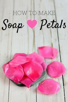 how to make soap petals #valentinesday #soapmaking #homemadesoap #soapmakingbusinessetsy