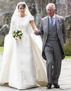 His Royal Honor! Find Out Who Else Prince Charles Has Walked Down the Aisle Royal Wedding Gowns, Royal Weddings, Modest Wedding Dresses, Wedding Bride, Long Dresses, Morning Coat, Morning Dress, Prince Charles Wedding, Wedding Portraits