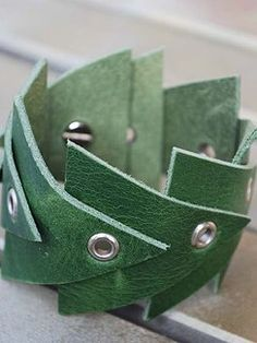 leather cuff could use any shape....