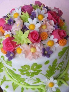 Beautiful cake art...