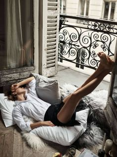 """Early in the Morning"" Arizona Muse for ELLE France 2016"