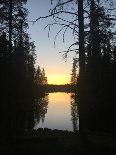 Sunset in Hossa, Suomussalmi, Finland. Photo: Mauri Kuorilehto (21.5.2016).