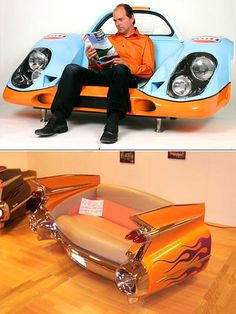Custom car sofas ....... must not let BF see this.