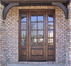 Country French Exterior Wood Entry Door Style DbyD-2035