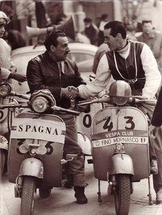 Italy vs Spain: A Vespa meeting