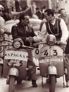 Italy vs Spain: A Vespa meeting