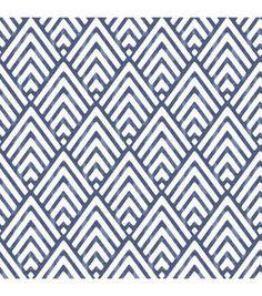 WallPops®️️ NuWallpaper™️ Deep Blue Arrowhead Peel  & Stick Wallpaper
