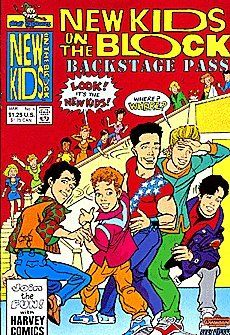 New Kids On The Block Backstage Pass (1990 series) #4 by Harvey Comics