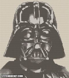 Darth Vader Star Wars Cross Stitch Pattern by StitchBucket on Etsy