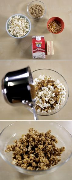Amp up your average popcorn with some yummy caramel!