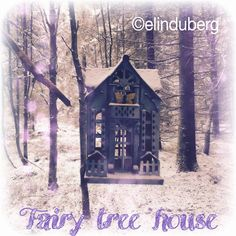 A little fairy treehouse out in the snowy Swedish woods.