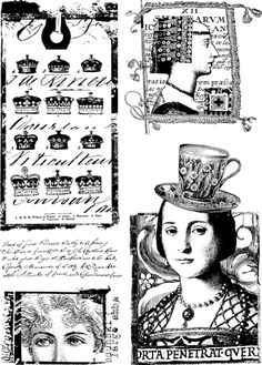 Lynne Perrella Collection 014, rubber stamps for Paper Artsy