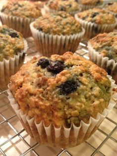 Made with the kiddo in mind, but these are delicious! #tryingnottoeatthemall How to Bake Blueberry-Banana Muffins