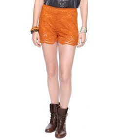 scalloped shorts by forever 21