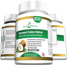 Coconut Colon Detox Supplement Super Formula for Cleanse and Weight Loss - Best All Natural Daily Digestive Cleanser and Detoxifier for Maintenance and Flushing Impurities and Toxins - 60 Veggie Capsules Island Vibrance http://www.amazon.com/dp/B00IDDTWI2/ref=cm_sw_r_pi_dp_U6XPwb039DZAA