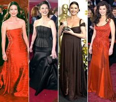 Catherine Zeta-Jones  The middle ones in black