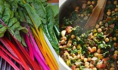 This recipe for chard and chickpeas is a collision of ideas: unctuous fried greens and legumes are lifted by bright, zesty lemon, while tomatoes add a welcome sweetness