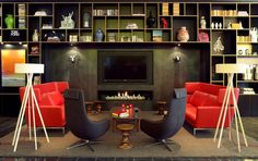 Industrial meets modern meets funkadelic :) CitizenM London Bankside by Concrete Architectural Associates | HomeDSGN, a daily source for inspiration and fresh ideas on interior design and home decoration.