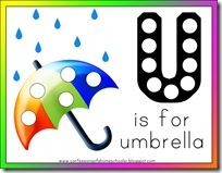 Letter U for Umbrella: Free Preschool Printables and activities