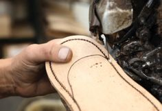 A pair of Goodyear Welted Loake shoes can take up to eight weeks to make. Some  130 skilled craftsmen, up to  75 shoe parts and over 200 different operations are involved.