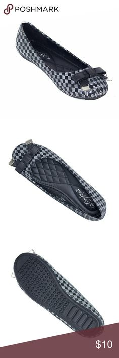 Tory K Ballerina Flats w. Bow, b-1625, Black Gorgeous brand new black checkered flats with a pretty metal-tipped bow in the front! They look so festive. Soft quilted sole, true to size. Bubbled bottom sole for extra traction. Tory Klein  Shoes Flats & Loafers