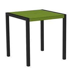 37 Outdoor Recycled EarthFriendly Counter Table  Lime Green with Black Frame * Want additional info? Click on the image.