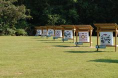 Just outside the city is the archery range where students and soldiers train and practice combat skills. Archery Range, Archery Hunting, Deer Hunting, Crossbow Hunting, Turkey Hunting, Outdoor Shooting Range, Indoor Shooting, Archery Target Stand, Shooting Targets