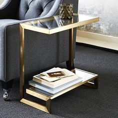 I've just found Huxley Occasional Table. A most cleverly engineered side table. Unusual Furniture, Art Deco Furniture, Steel Furniture, Table Furniture, Living Room Furniture, Living Room Decor, Coffe Table, A Table, Table Lamp