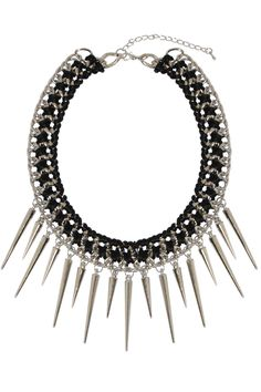 B&B Couture - Spike Necklace in Silver