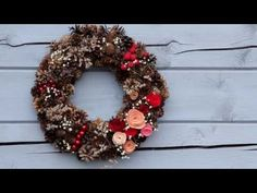 DIY Рождественский венок из шишек своими руками. Как сделать новогодний венок. Основа для венка. - YouTube