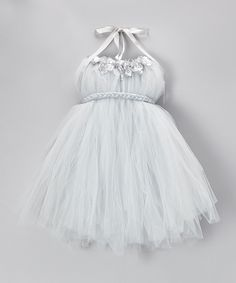 Take a look at this Silver Tulle Tutu Dress - Infant, Toddler & Girls on zulily today!
