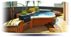 Above Ground Pool Decks | Stone Above Ground Pool Integrated Range premierpoolsandspas Pool Deck ...