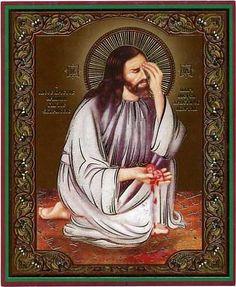 Редкая икона , на которой Господь плачет о детях , погибших в результате аборта