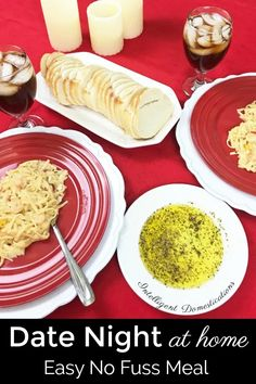 Quick and Easy Valentine's dinner you can make at home. No Fuss Romantic Italian Dinner Menu. Ready in under 30 minutes. #Valentinesdinner #valentines #romanticdinner Italian Dinner Menu, Chinese Lemon Chicken, Easy Date, Festive Cocktails, Bath Bomb Recipes, Cheap Dinners, Budget Dinners, Dinner For Two, Romantic Dinners