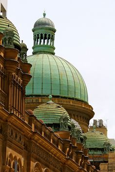 ♥ QVB ~ Queen Victoria Building ~ Sydney absolutely my favorite shopping center! Such gorgeous architecture inside and out.