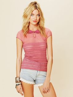 Free People Ruffle My Feathers Top, love this top & shorts