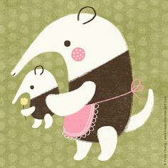 anteaters | flora chang, Happy Doodle Land
