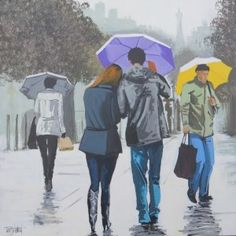 'Paris in the rain' by Terry Wood