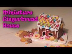Miniature Gingerbread House - Polymer Clay Tutorial - YouTube