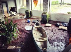 43)  A canoe sits in the lobby of an apartment building in the aftermath of Hurricane Sandy in Sheepshead Bay, Brooklyn, on October 30, 2012. (Reuters/Diana Ingerman)