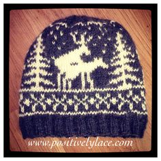 The Naughty Deer Hat, free knitting pattern!