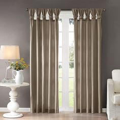 Thick Curtains, Drapes Curtains, Window Treatment Store, Window Treatments, Best Windows, Panel Bed, Your Space, Home And Garden, Pewter