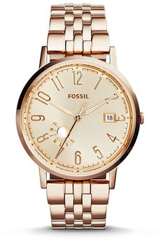 Fossil Ladies´ Vintage Muse Rose Gold-Tone Stainless Steel Analog Watch
