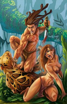 Tarzan e Jane cartoon porno