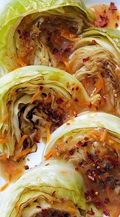 Sweet & Spicy Braised Cabbage (Pressure Cooker)