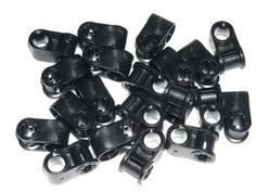 LEGO 20 Black Technic Mindstoms Axle and Pin Connectors Perpendicular 42039 #LEGO